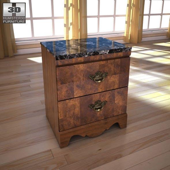 Ashley Buckingham Nightstand - 3D model. - 3DOcean Item for Sale