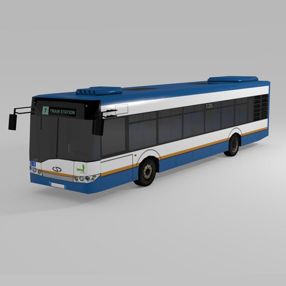 LOW POLY BUS  SOLARIS URBINO 12
