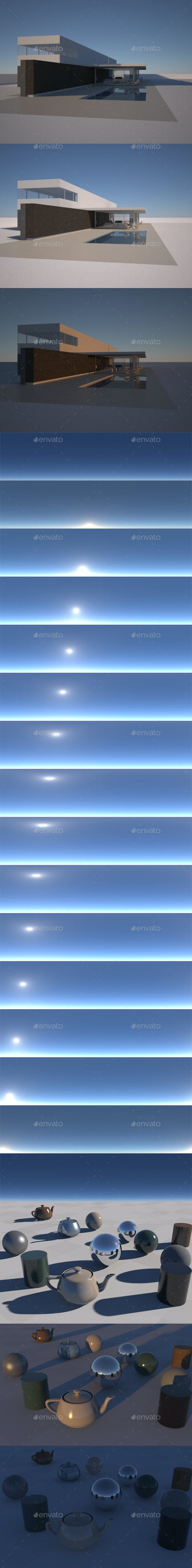 Clear Sky Pack - Timelapse 16 EXR/HDR pics - 3DOcean Item for Sale