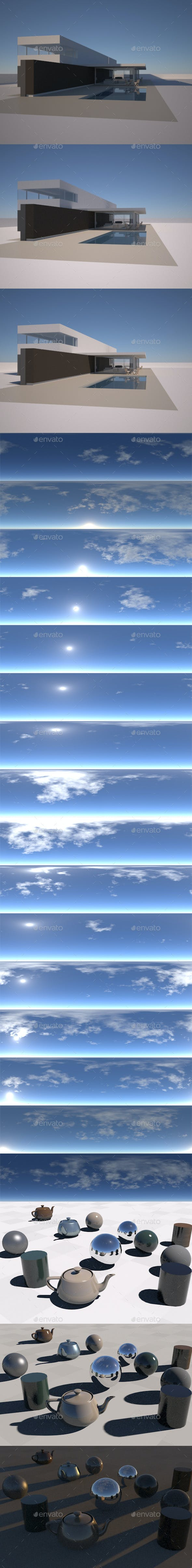 Light cloud pack, 16 hdr/exr in timelapse - 3DOcean Item for Sale