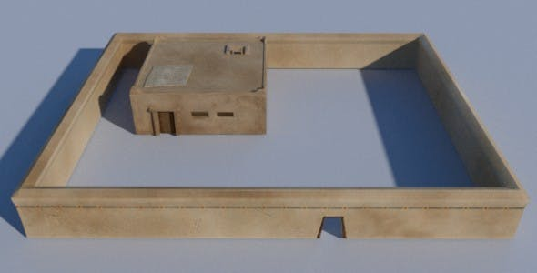 Ancient Egyptian House Compound - 3DOcean Item for Sale