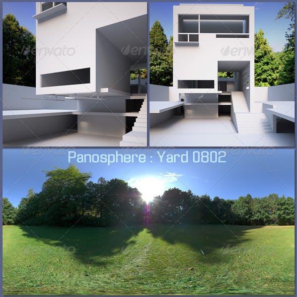 Panosphere HDRI - Yard 0802