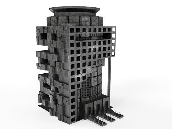 Sci Fi Box Building 6 - 3DOcean Item for Sale
