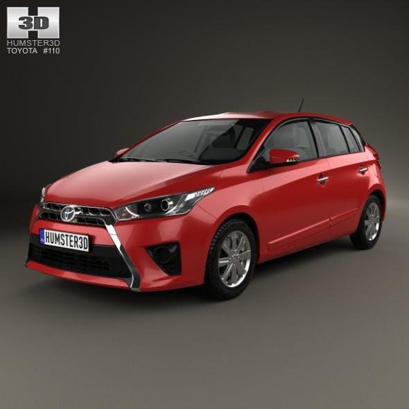 Toyota Yaris 5-door hatchback 2014 - 3DOcean Item for Sale