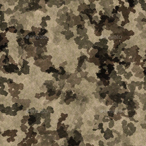 15 Tileable Camouflage Fabric Textures