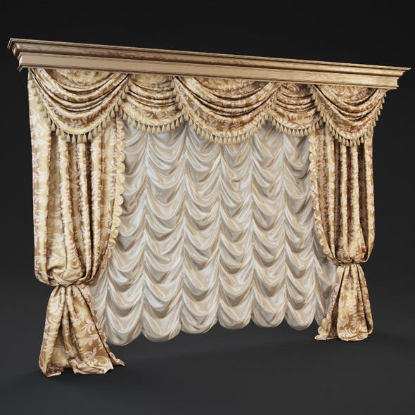 Classic curtains  - 3DOcean Item for Sale