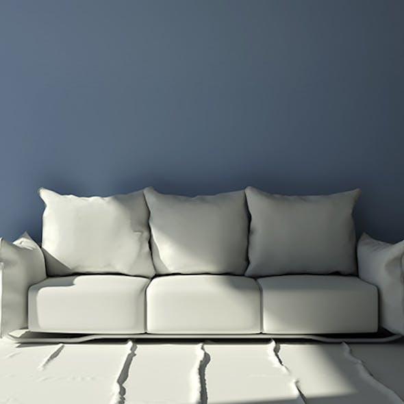 Modern three seat pillow sofa