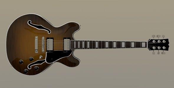 Semi Acoustic Guitar - 3DOcean Item for Sale