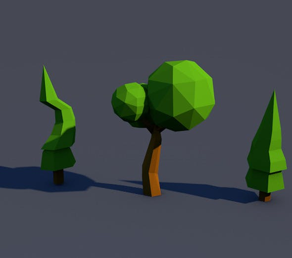 Low Poly Tree [Mini Pack] - 3DOcean Item for Sale
