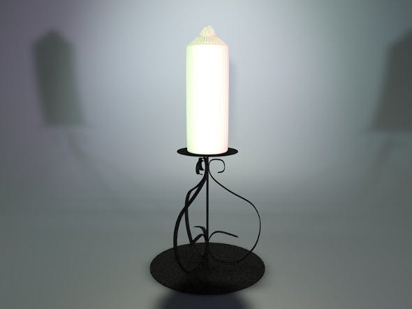 Realistic detailed candle stick and stand. - 3DOcean Item for Sale
