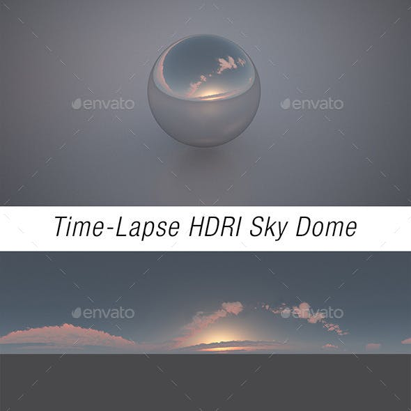 Time-Lapse HDRI Sky Dome Sunset
