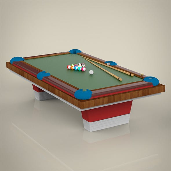 Billiard Table - 3DOcean Item for Sale