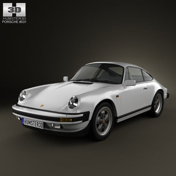 Porsche 911 Carrera Coupe 1987 - 3DOcean Item for Sale
