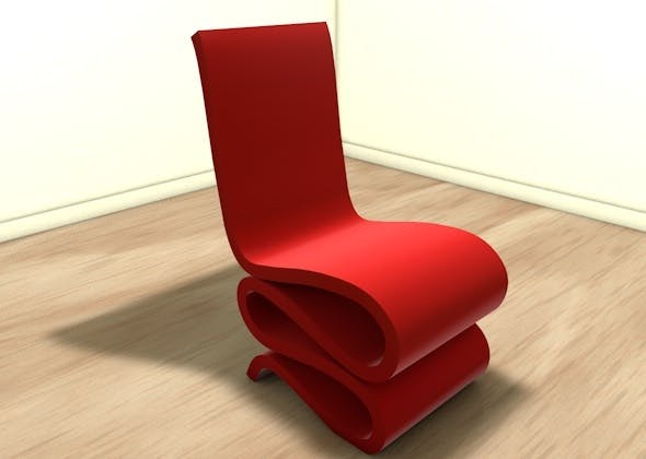 Stylish wiggly chair - 3DOcean Item for Sale
