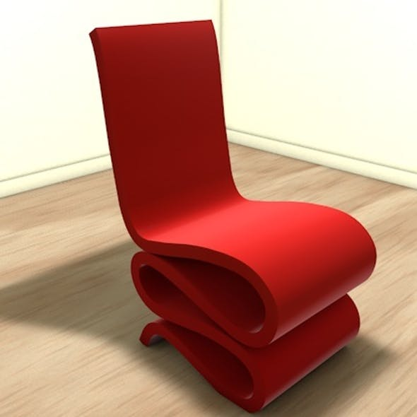 Stylish wiggly chair