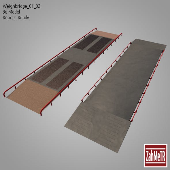 Weighbridge 01/02  (3D Model) - 3DOcean Item for Sale