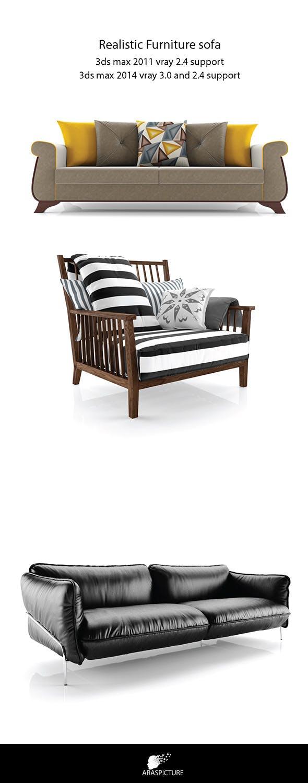 Realistic furniture vray studio scene - 3DOcean Item for Sale