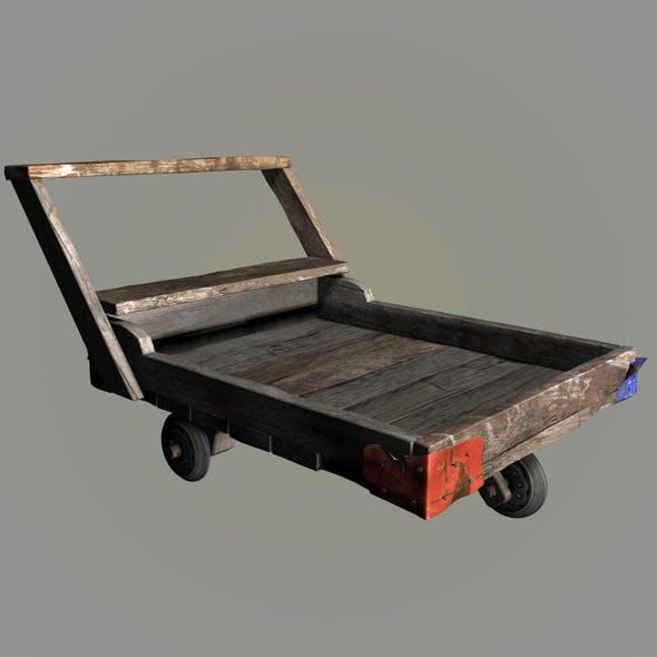 wood pushcart