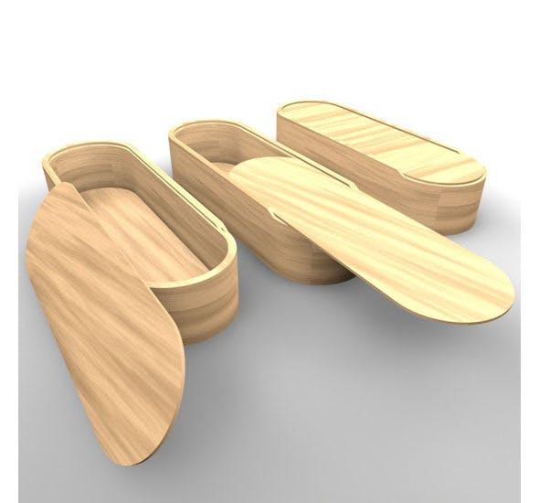 caja de madera wood box - 3DOcean Item for Sale