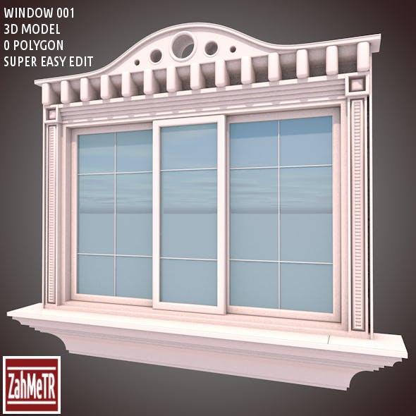 Window 001  (3D Model) - 3DOcean Item for Sale