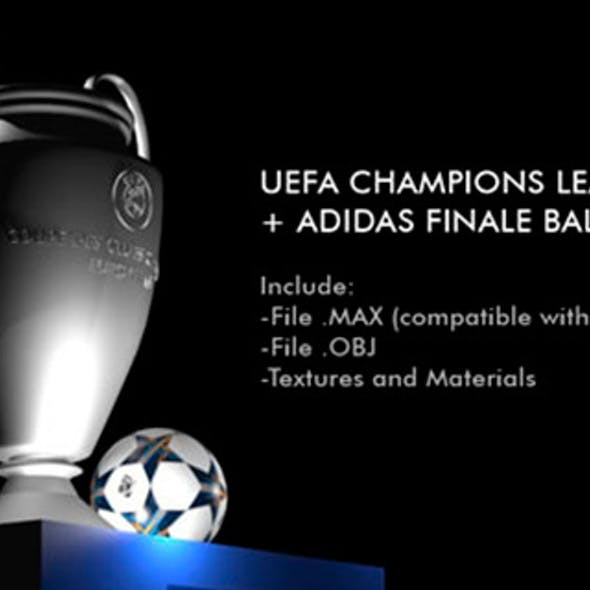 Champions League Cup + Adidas Finale Ball