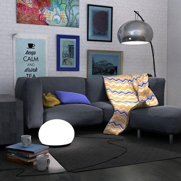 Living room scene set