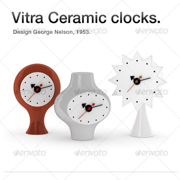 Vitra Ceramic clocks