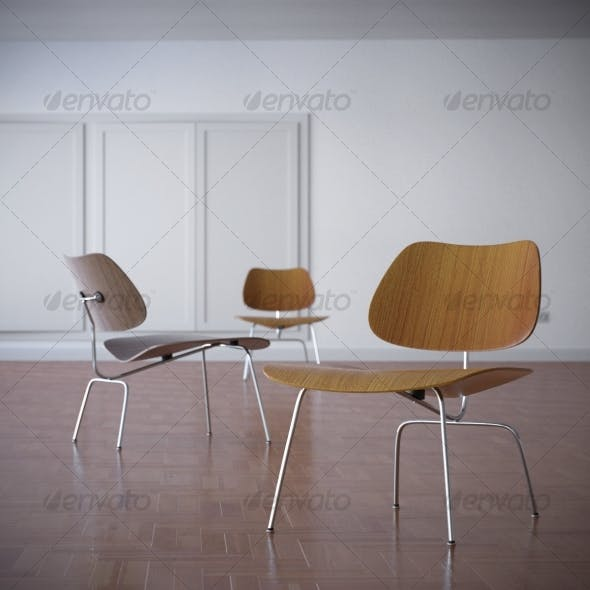 Charles Eames LCM Lounge Chair 1945 - 3DOcean Item for Sale
