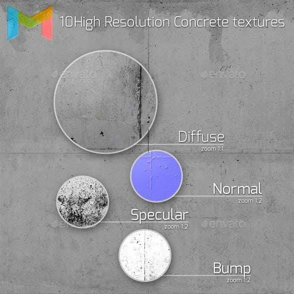 10 HQ Concrete textures