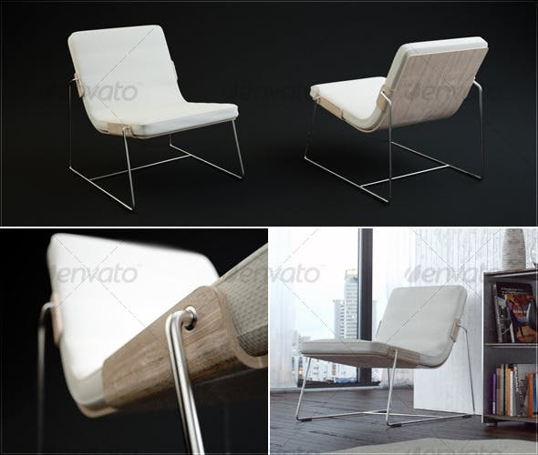 Pancras Lounge Chair - 3DOcean Item for Sale