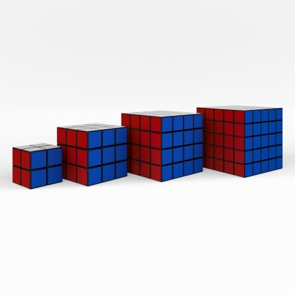 Rubik Cube collection (4 in 1)