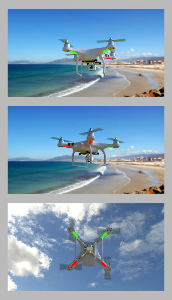 3D quadrocopter DJI Phantom 2 model - 3DOcean Item for Sale