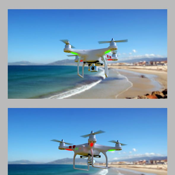 3D quadrocopter DJI Phantom 2 model