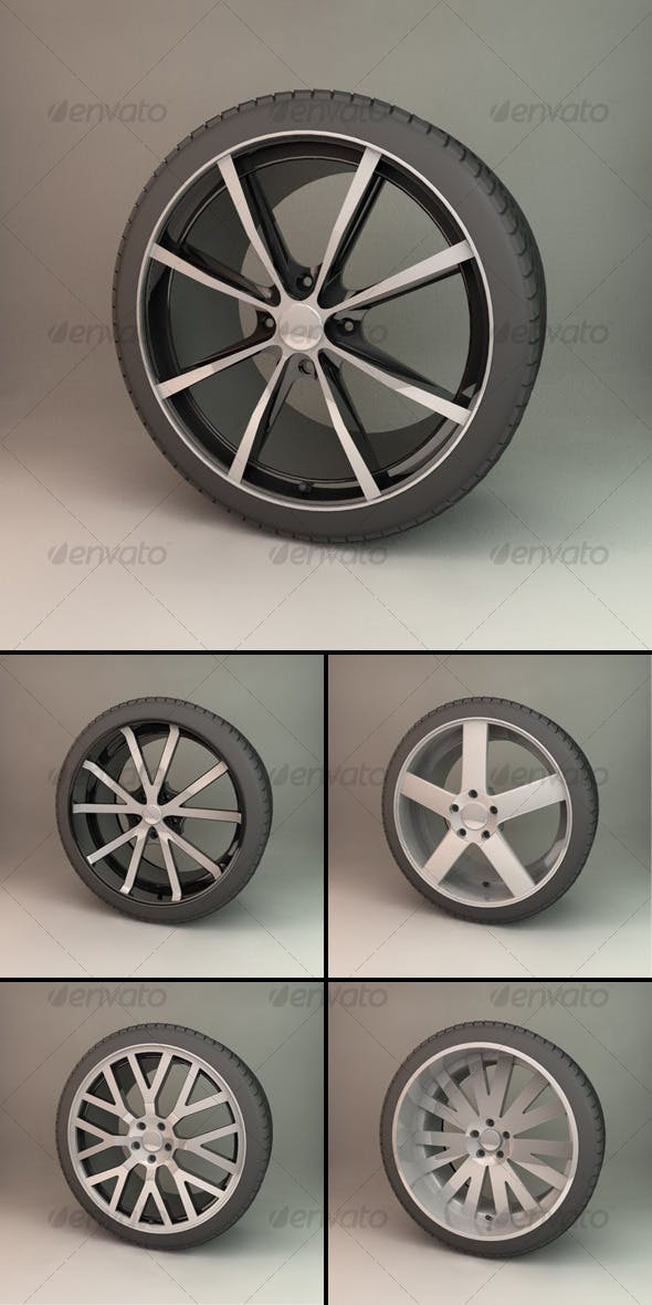 Alloy Wheel Collection - 3DOcean Item for Sale