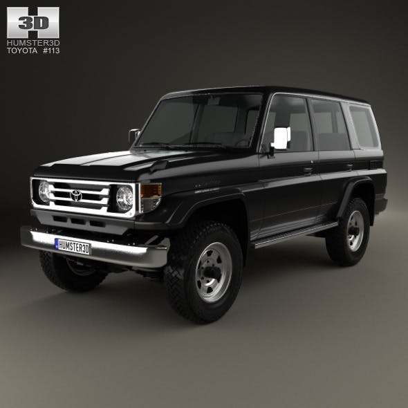 Toyota Land Cruiser (J70) 5-door 1990 - 3DOcean Item for Sale