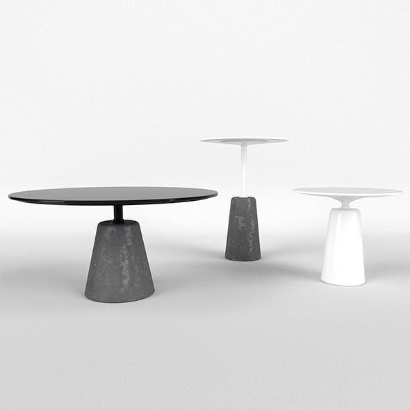 MDF Rock Table - 3DOcean Item for Sale