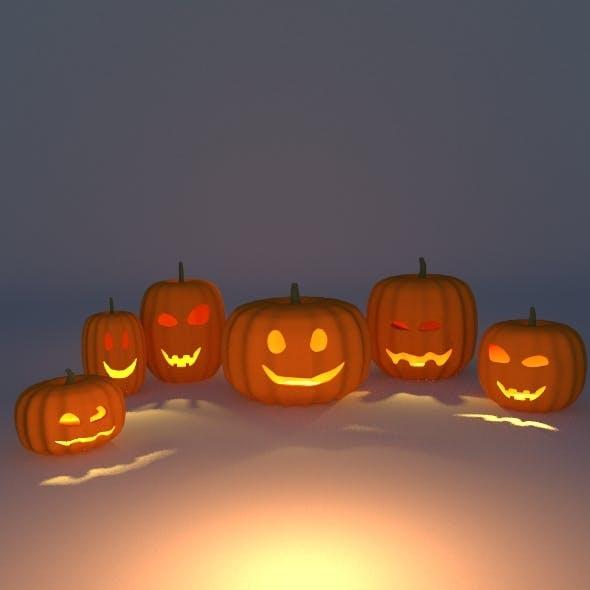 Halloween Pumpkins Pack Edition - 3DOcean Item for Sale