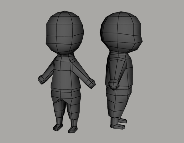 Low poly human character base - 3DOcean Item for Sale
