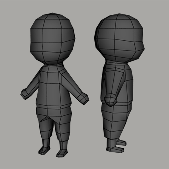Low poly human character base