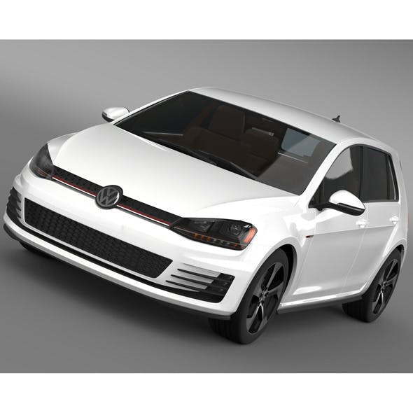 Volkswagen Golf GTI 5 door 2015 - 3DOcean Item for Sale