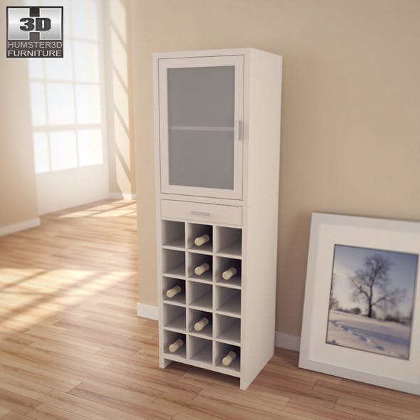 15 Section Wine Cabinet - Organize It All - 3D Mod - 3DOcean Item for Sale