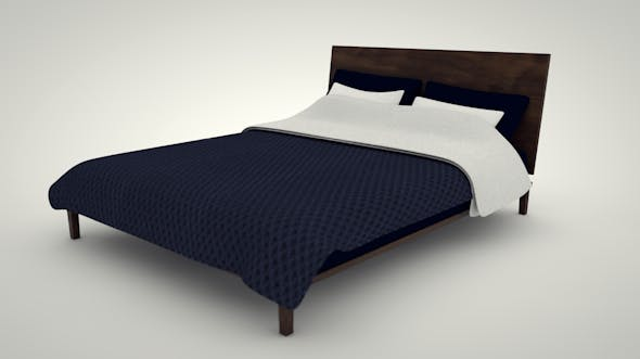 Modern Bed - 3DOcean Item for Sale