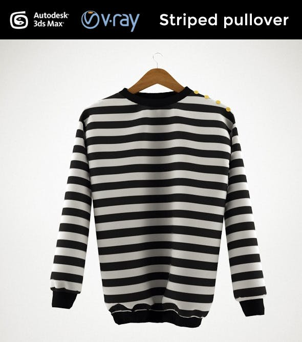 Striped pullover - 3DOcean Item for Sale