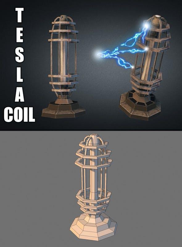 Tesla Coil Turret - 3DOcean Item for Sale