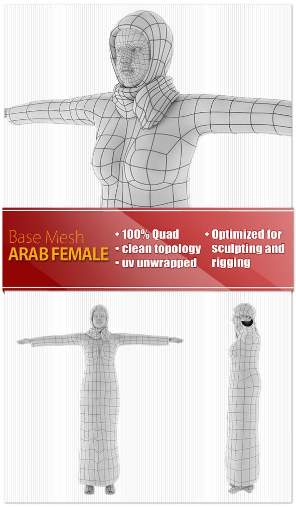 Arab Female - 3DOcean Item for Sale