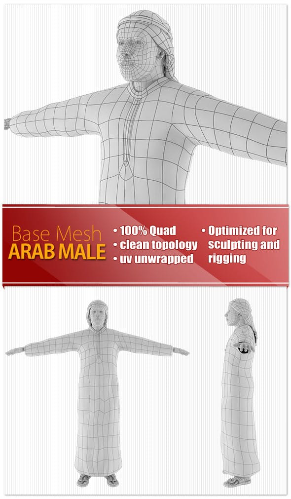 Arab Male - 3DOcean Item for Sale