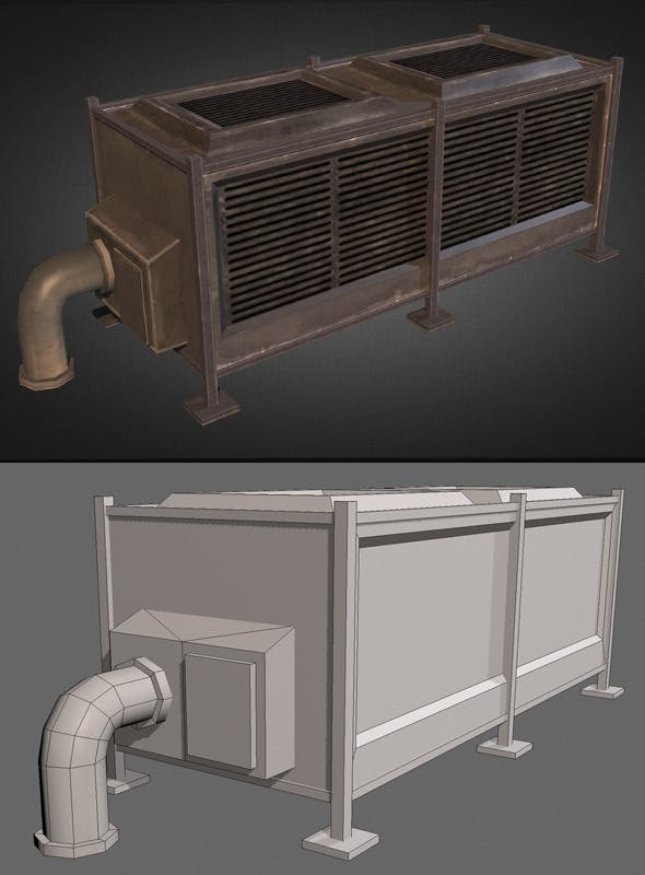 Air Condition Unit 03 - 3DOcean Item for Sale