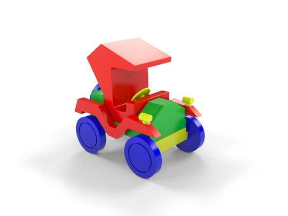 Wooden Toy Car - 3DOcean Item for Sale