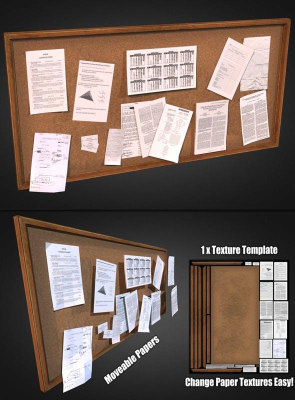 Bulletin Board - 3DOcean Item for Sale