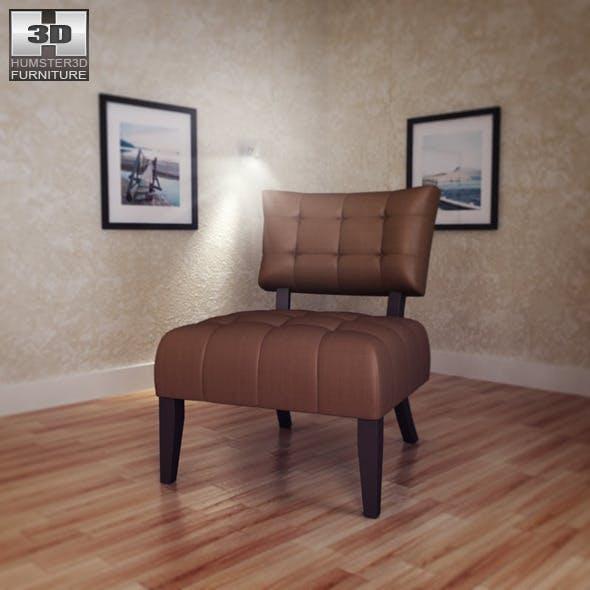 Beige Microfiber Chair - Allen Park - 3D Model. - 3DOcean Item for Sale